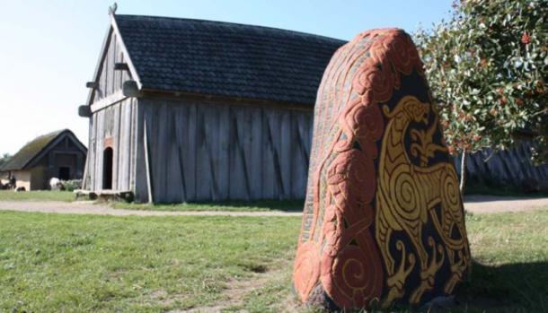 A runestone at the Ribe VikingeCenter. (Ribe VikingeCenter)