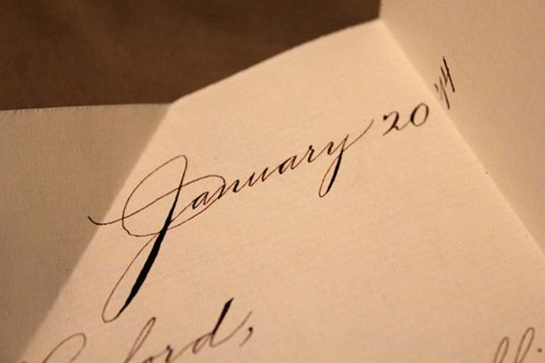 A sample of Spencerian script. (Swchuck / CC BY-SA 3.0)