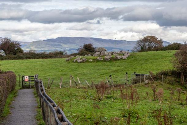 A satellite tomb with central dolmen at Carrowmore. This particular tomb is on private land and not accessible to the public. (Image: Ioannis Syrigos)