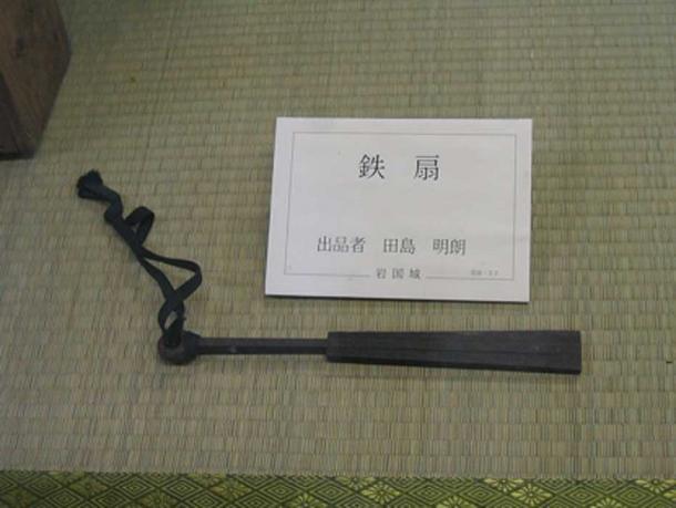 A solid iron Tessen on display in Iwakuni Castle, Japan. (Public Domain)