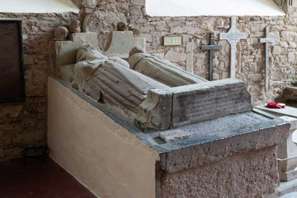 A stone grave now on display in St Mary's Collegiate Church. Credit: Ioannis Syrigos