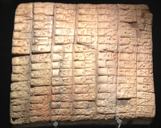 A tablet from the ancient city of Ebla. (Codas / CC BY-SA 4.0)