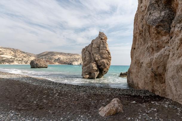 A unique rock formation next to Aphrodite rock. (Ioannis Syrigos)
