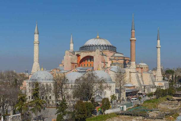 A view of Hagia Sophia in Istanbul, Turkey. (CC BY-SA 3.0)