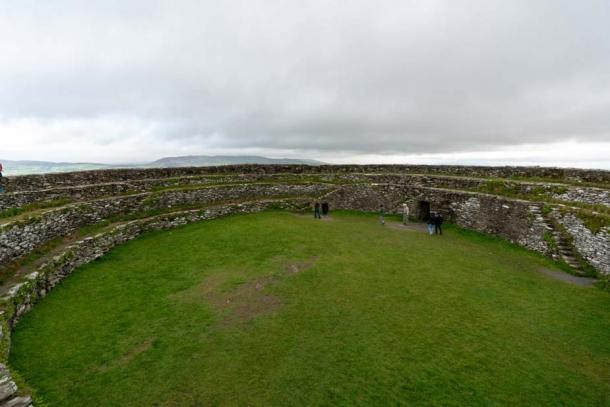 A view on the inside of the Grianan of Aileach. Credit: Ioannis Syrigos