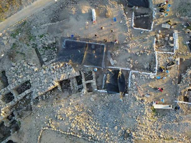 ABR's Excavation squares at Tel Shiloh (Credit: Tim Velasco)