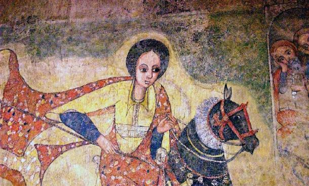 17th century AD painting of the Queen of Sheba from a church in Lalibela, Ethiopia. (Magnus Manske / CC BY-SA 2.0)
