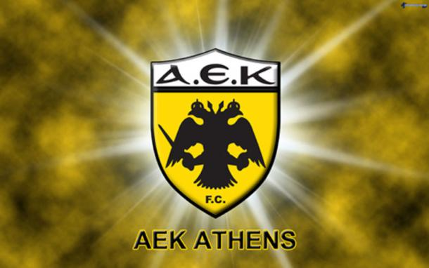 AEK Athens Football Club insignia.