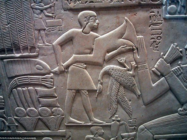 Abkaou receiving gifts, 11th dynasty, Louvre Museum. (Rama / BY-SA 2.0 FR)