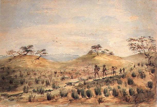 'Aboriginal Family Travelling.' (Public Domain)