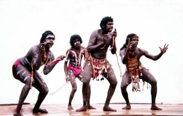 Aboriginal dancers in 1981