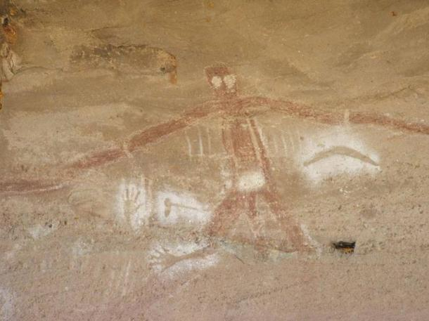 Aboriginal rock art depicting the creator god