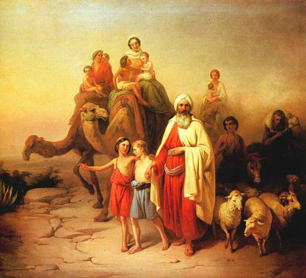 'Abraham's Journey from Ur to Canaan' (1850) by József Molnár. (Public Domain)