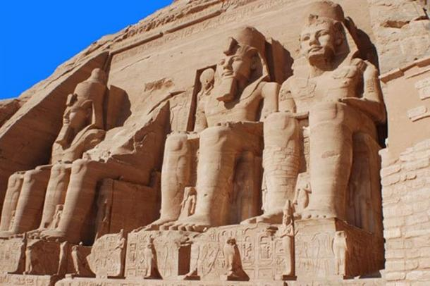 Abu Simbel Temple of King Ramses II, a masterpiece of pharaonic arts and buildings in Old Egypt. Source: BigStockPhoto