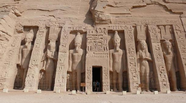 The small temple at Abu Simbel.