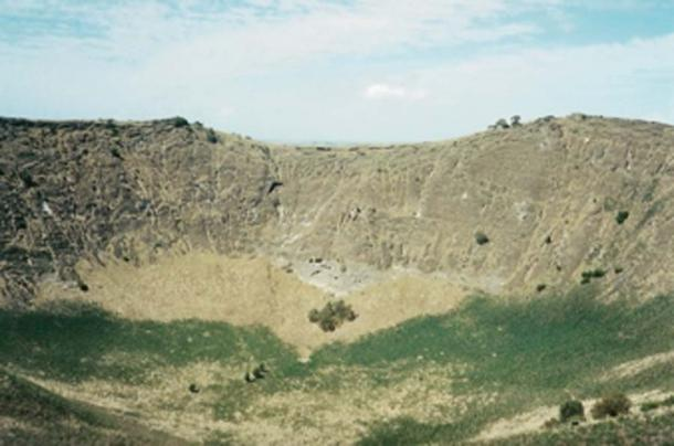 According to legend the volcanic crater of Mount Schank was the oven of giants. (Roo72 / Public Domain)