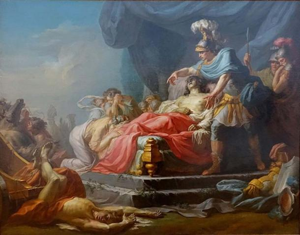 Achilles Displaying the Body of Hector at the Feet of Patroclus (1769) by Jean Joseph Taillason.