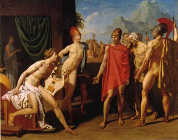 'Achilles Receiving the Envoys of Agamemnon' by Jean Auguste Dominique Ingres. (Public Domain)