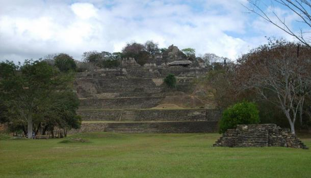 The Acropolis of Toniná, occupying seven terraces upon a hillside.