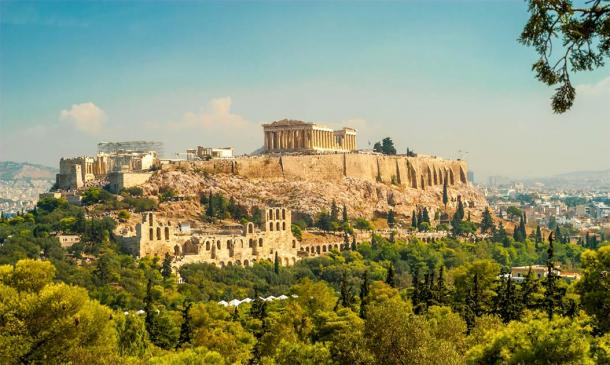 The Acropolis stands high on a hill overlooking Athens, making it very hard for people with mobility issues to reach it. Credit: milosk50 / Adobe Stock