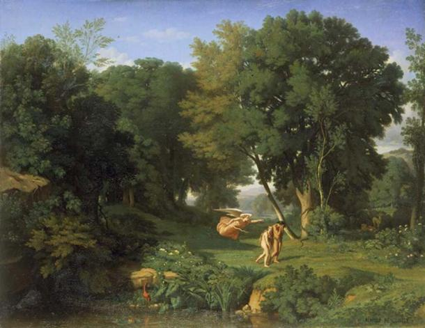 Adam and Eve Chased out of the Terrestrial Paradise. Jean Achille Benouville, 1841. (Public Domain)