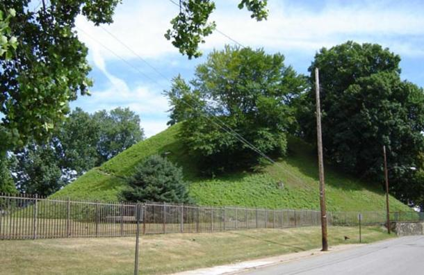 Adena Mound. West Virginia - Moundsville - Adena Indian Mound 100 BC -500 AD.