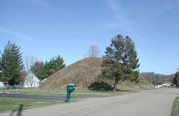 One of the Adena mounds of the Wolf Plains site in the Hocking Valley.