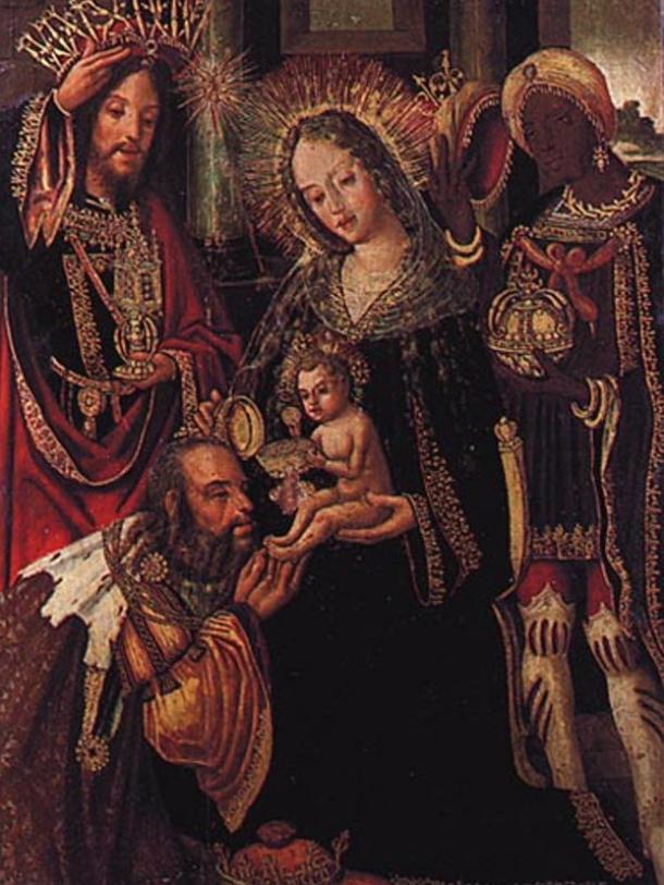 Adoração dos Magos (1518) by Vicente Gil. Museu Nacional de Machado de Castro Coimbra, Portugal