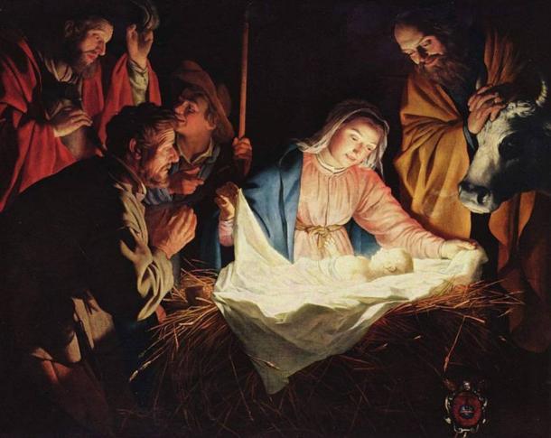 """Adoration of the Shepherds"" by Gerard van Honthorst, 1622."