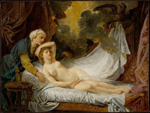 'Aegina Visited by Jupiter' (1767-1769) by Jean-Baptiste Greuze. (Public Domain)