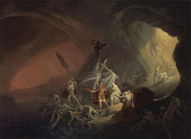 Aeneas and the Sibyl in the Underworld (circa 1800) Yale Center for British Art  (Public Domain)