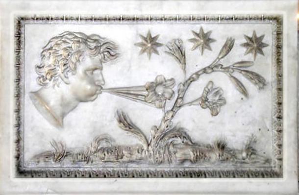 Aeolus - digital enhancement of an old marble representation (Public Domain)
