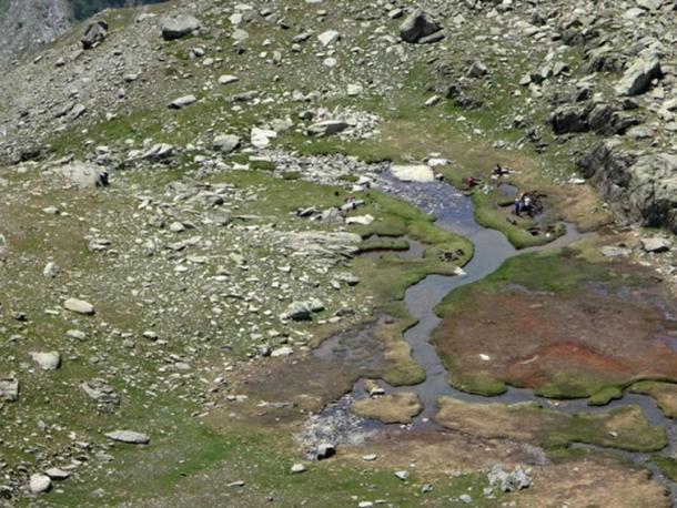 Aerial photo of expedition site. Peeter Somelar of the University of Tartuu (Estonia),