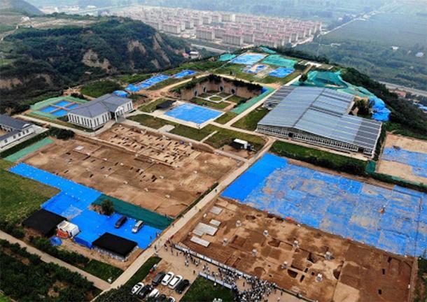 Aerial photo of Shuanghuaishu site in central China's Henan Province (Image: Li An/Xinhua/SCIO)
