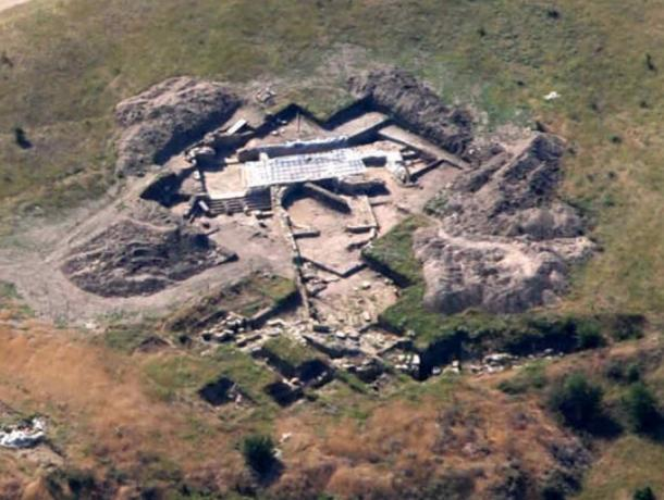 Aerial photograph of Bylazora