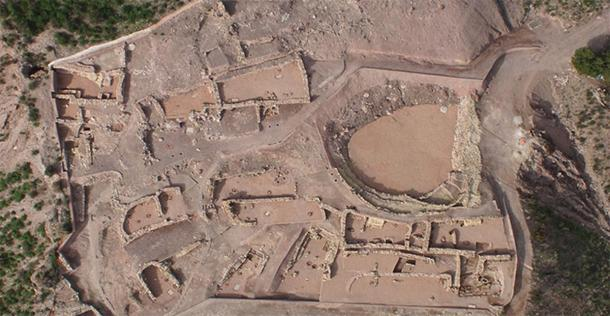 Aerial shot of the El Argar La Bastida excavation site. (UAB)