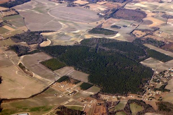 Aerial view of Carolina Bays