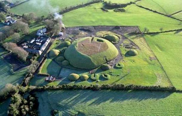 Aerial view of Knowth.