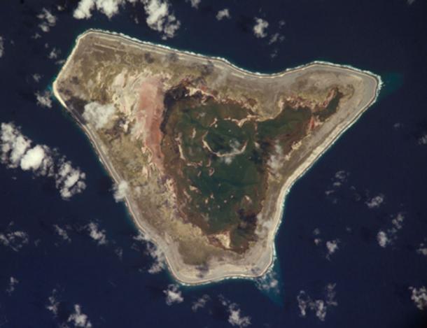 Aerial view of Malden Island (Public Domain)