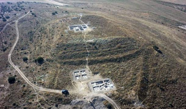 Aerial view of excavated areas at Tel Burna.