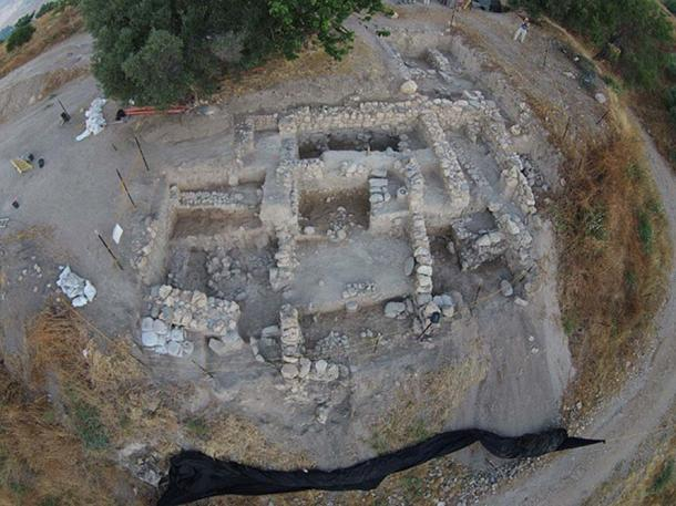Aerial view of excavations at the Abel Beth Maacah archaeological site in 2015. (Tel Abel Beth Maacah Excavations/CC BY SA 4.0)