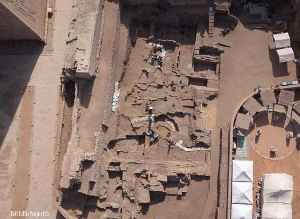 Aerial view of the Old Kingdom excavation area (Zone 2) at Tell Edfu.