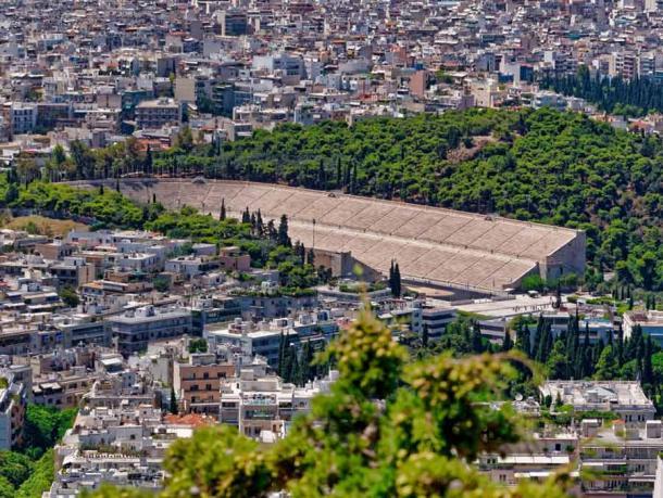 Aerial view of the Panathenaic Stadium in Athens. (Dimitrios / Adobe Stock)