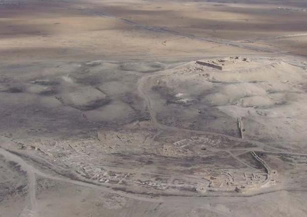 Aerial view of Tel Arad