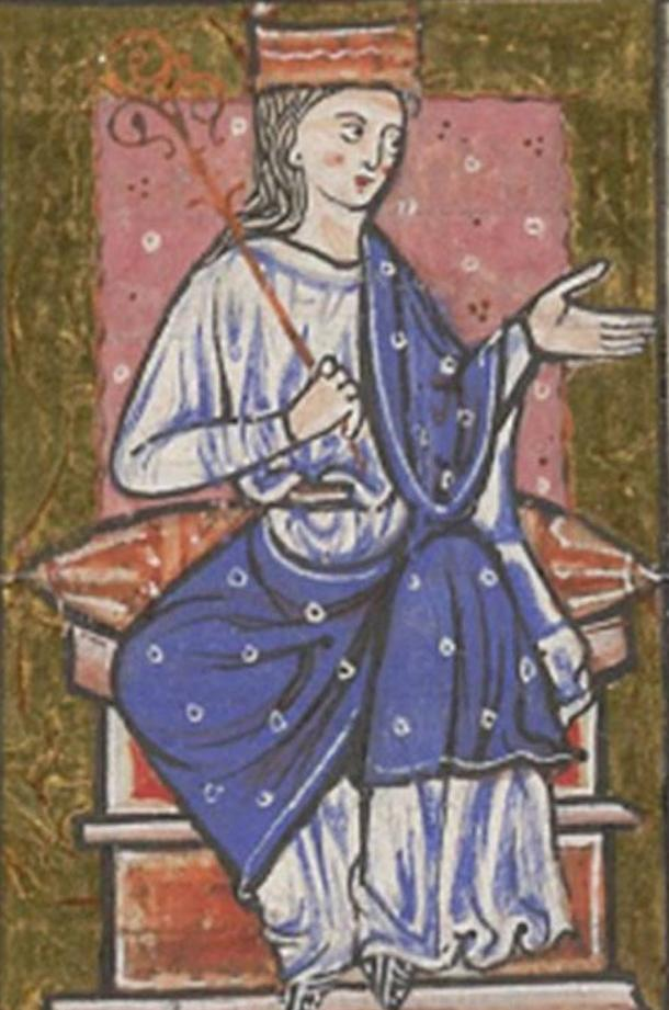 Aethelflaed (Æthelflæd) as depicted in the cartulary of Abingdon Abbey
