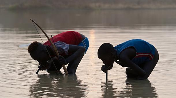 Some Africans drink from stagnant water, which is the source of the guinea worm.