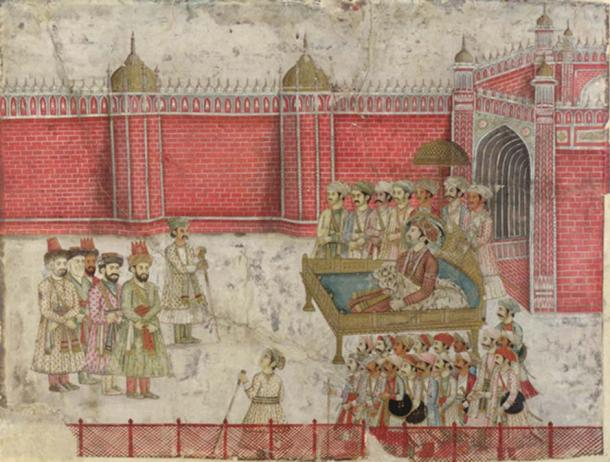 Afsharid forces negotiate with a Mughal Nawab. (Public Domain)