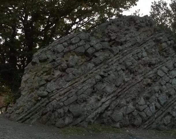 Part of the Agathopolis fortress wall, Ahtopol, Bulgaria.