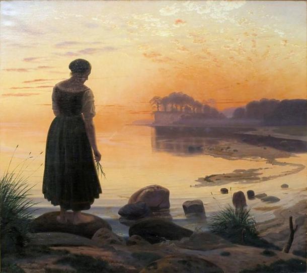 """""""Agnete og Havmanden"""" (c. 1862) by Vilhelm Kyhn."""