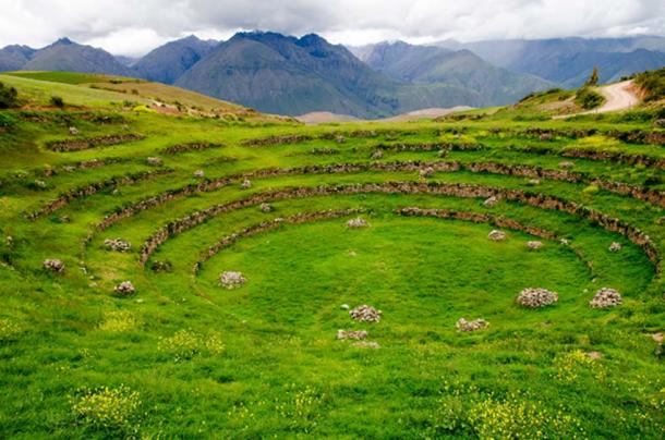 Agricultural Inca Terraces at Moray, Peru. (Ralf Broskvar / Adobe)